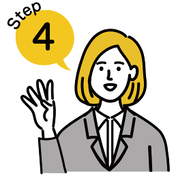女性 金髪 若い スーツ ベクター ポップ ステップ 4