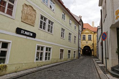 プラハの街並み 路地裏 チェコ