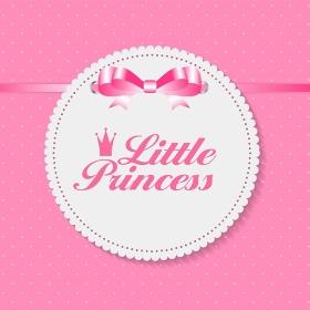 Little Princess Background Vector Illustration EPS10. Little Princess Background Vector Illustration
