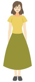 【家族ベクターイラスト素材】若い女性・お母さんのイラスト【人物】