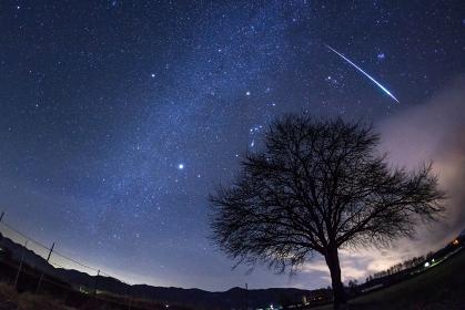 長野県・南牧村 野辺山高原で眺めるふたご座流星群 2010