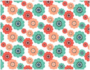 カラフルな花のパターン ベクター 背景