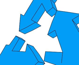 青いループのアップ「黒淵あり」