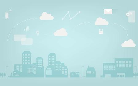 Wi-Fiの電波が街中に広がって便利になるイメー