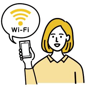 女性 金髪 若い ベクター ポップ wifi インターネット