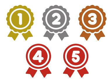 メダル アイコンセット 1位~5位 (金銀銅ほか)
