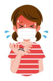 熱中症、マスクをしている、女の子