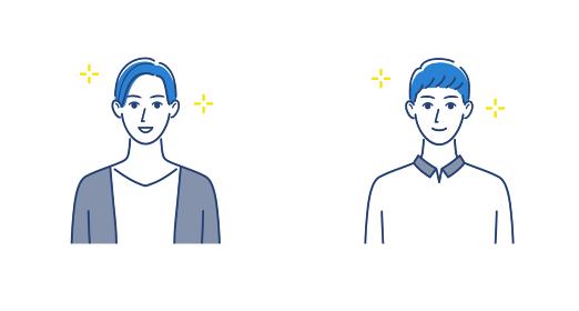 微笑む二人の男性のイラストセット