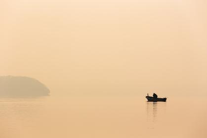 日本・北海道洞爺湖、冬の風景