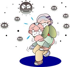新型コロナウイルス感染症にかかる老人