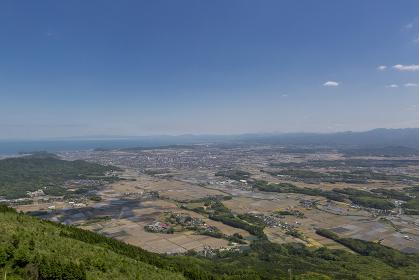 北九州国定公園平尾台 桶ヶ辻付近より行橋方面を望む