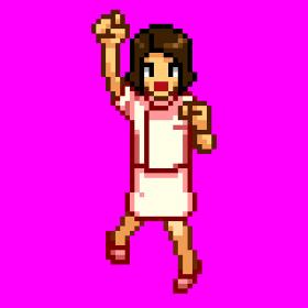 看護師女性01ジャンプ