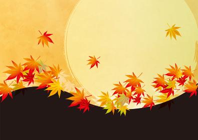 秋 オレンジの背景イラスト