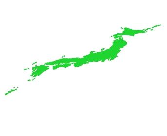 斜めから見たかっこいい日本列島の地図のイラストイメージ