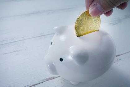 貯金箱にビットコインを貯める