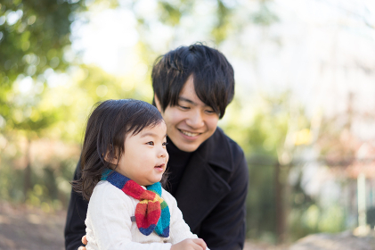 父と子供(無邪気・表情)
