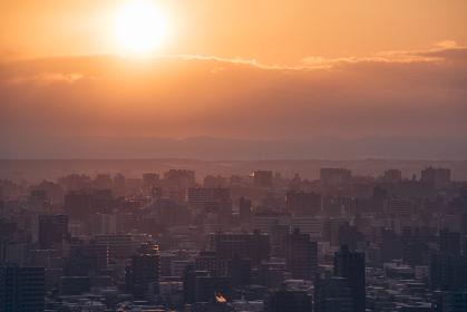 旭山記念公園からの朝日