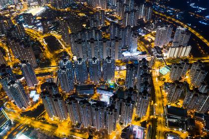 Tin Shui Wai, Hong Kong, 05 November 2018:- Hong Kong city at night