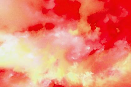 水彩調 アブストラクト背景 赤色4689