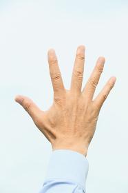 シニアの日本人男性の手