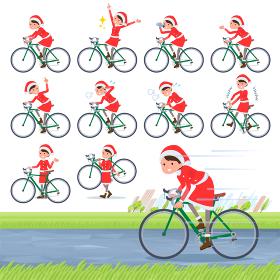 flat type Santa Claus Costume mom_road bike