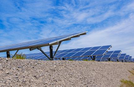 メガソーラー 太陽光発電 ソーラーパネル 【 カーボンゼロ イメージ 】