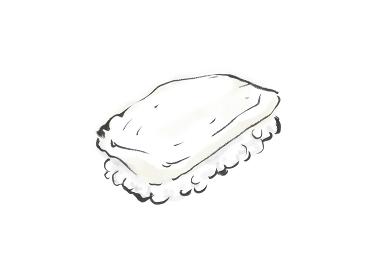 和風手描きイラスト素材 寿司 いか