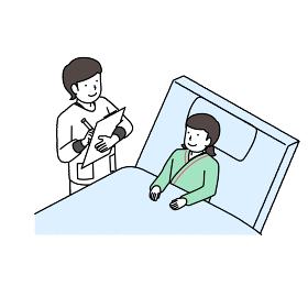 患者さんを診察する看護師さん