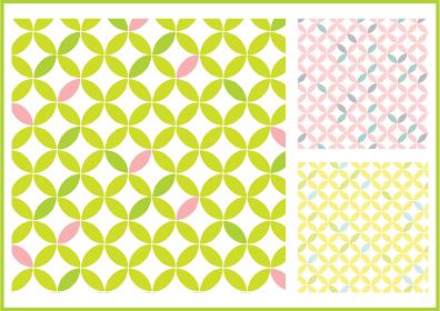 春イメージ七宝模様のパターンスウォッチ素材セット