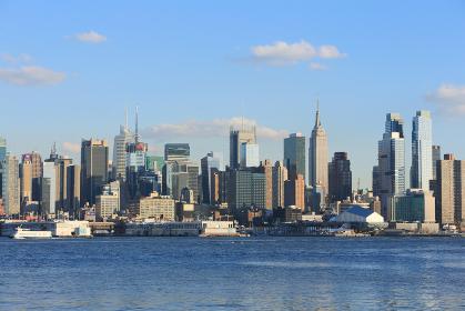 ニューヨーク マンハッタン スカイライン ニュージャージー側より アメリカ合衆国
