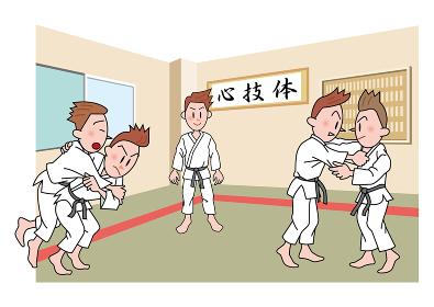 柔道の練習