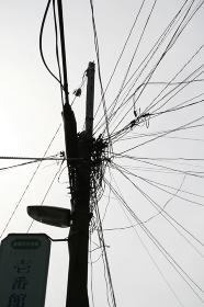 電柱,電線