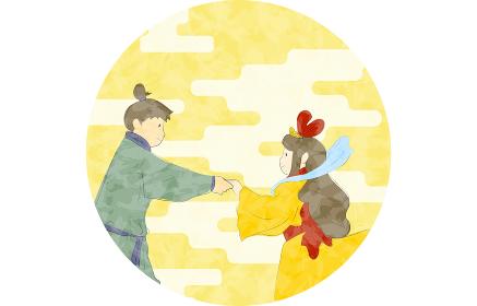 七夕の織姫と彦星のイラスト