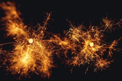 線香花火。夏のイメージ。