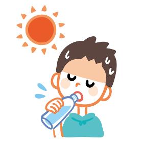 男の子 水分補給 ペットボトル