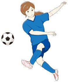 サッカーをする女性02