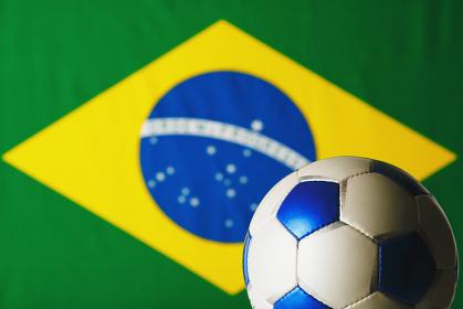 サッカーボール ブラジル国旗