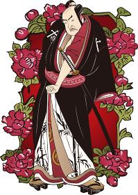 浮世絵 歌舞伎役者&花 その21
