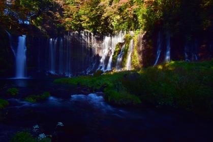 秋 紅葉の白糸ノ滝