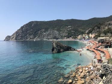 Monterosso Turquose pristine water on the Cinque Terre sea coast