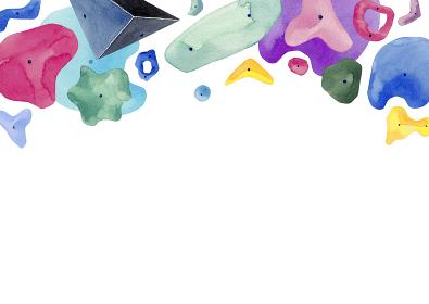 ルダリング ロッククライミング 背景 フレーム 水彩 イラスト
