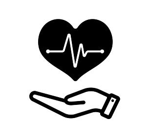 心電図・心臓の鼓動・ヘルスケア・医療 アイコン