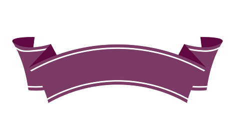 装飾リボン バナー (文字スペース・テキストスペース)