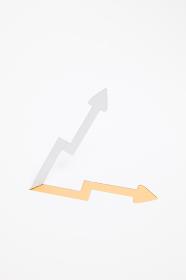 増収・上昇のイメージ (※B・オレンジ色)