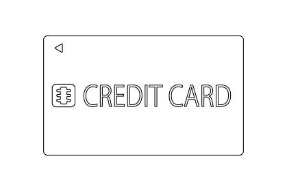 クレジットカードのベクターイラスト