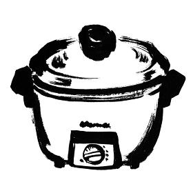 昭和レトロな炊飯器 電気釜の手描きイラスト