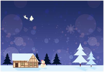 クリスマス 風景 青