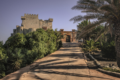 Entrance to Falconara Castle
