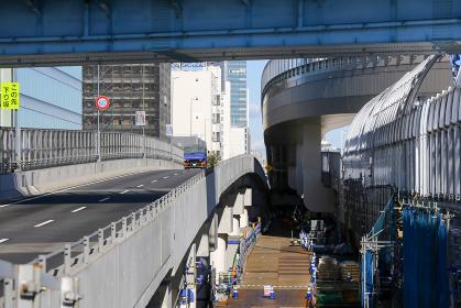 高速道路の工事現場(羽田線・東京)