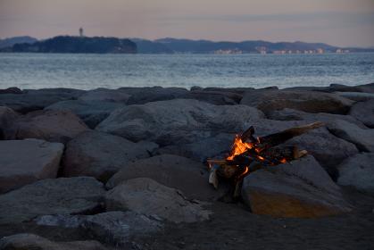 焚火の風景